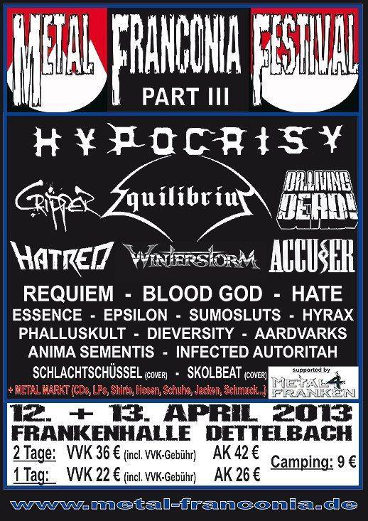 Metal Franconia 2013 Lineup