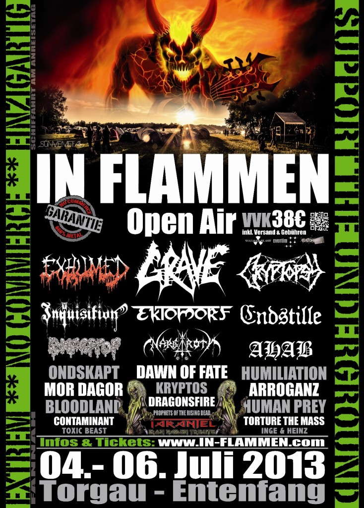In Flammen 2013 Flyer