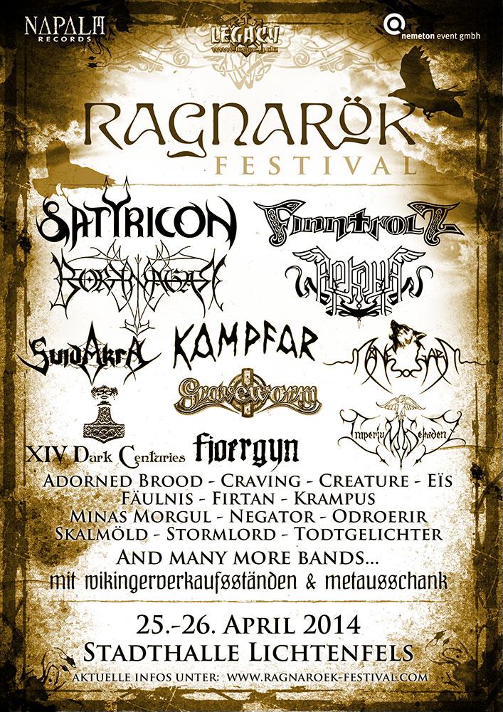Ragnarök 2014 Lineup